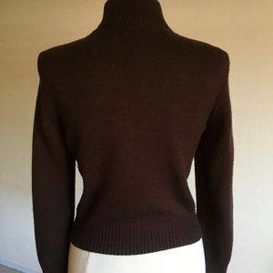 Vintage Sisley Italian made Leather knit jacket